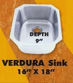 sink kitchen verdura color 16 18